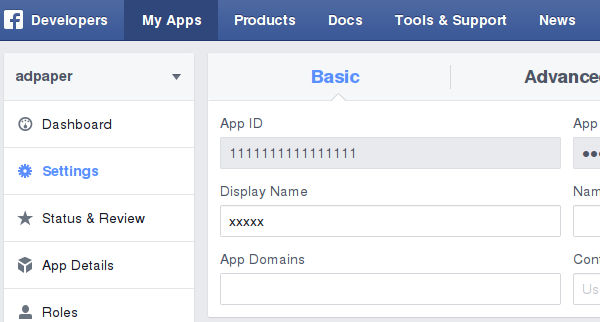 Facebook SDK App Id