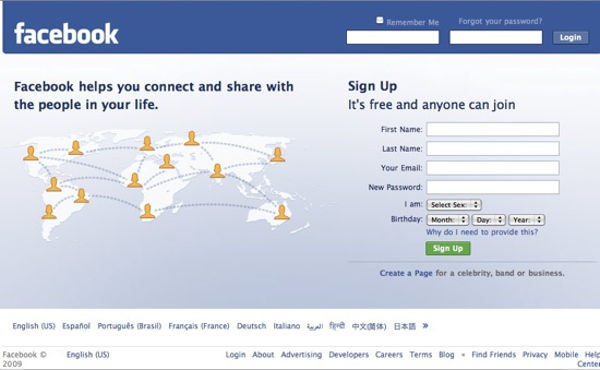 Facebook login yap